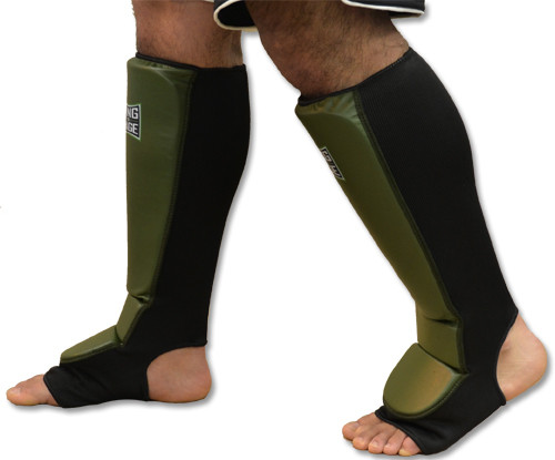 Grappling Shin instep - Stretchable Covered Back